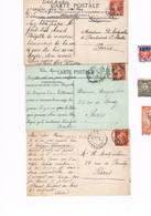 PRIX EN BAISSE Timbres Perforés - Perfin JTPF Sur Carte Postale Et Divers - France