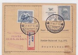 Registered Postcard, Special Cancellation. SMUTEK CESKOSLOVENSKA. Jan Ev. Purkyne - Tschechoslowakei/CSSR