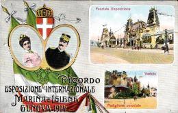 [DC11869] CPA - ESPOSIZIONE INTERNAZIONALE MARINA E IGIENE GENOVA 1914 - RARISSIMA - Viaggiata 1915 - Old Postcard - Esposizioni