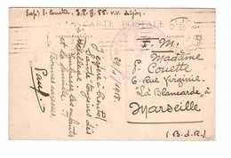 Marcophilie Cachet Guerre 1914 1918 55e Section De Parc Automobile Dijon 1918 - Postmark Collection (Covers)