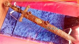 Rare Dague De Garde Du Trésor Croate, Modèle 1942 - Knives/Swords