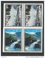 Norvège 1977 N°698a/699a Neufs** En Paires Europa - Norvège