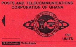 TELECARTE GHANA *150 Units  SANS PUCE Schlumberger Technologies - Ghana