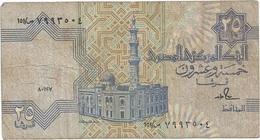 Egipto - Egypt 25 Piastres 1-12-1987 Pk 57 A.3.1 Tira De Seguridad Sólida Ref 636-2 - Egipto