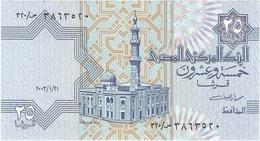 Egipto - Egypt 25 Piastres 21-1-2003 Pk 57 D.3 Tira De Seguridad Sólida Ref 638-1 UNC - Egipto