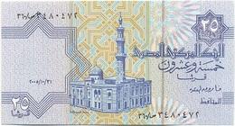 Egipto - Egypt 25 Piastres 31-10-2005 Pk 57 F.1 Tira De Seguridad Marrón Con Nº 25 Ref 639-1 UNC - Egipto
