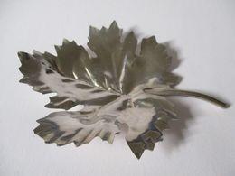 Foglia In Argento Posacenere O Ornamento - Silverware