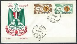 Libya. Scott # 435-36 FDC. 10th Anniv. Of African Postal Union 1971 - Libya