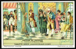 LIEBIG - FR -  1 Chromo N° 5 - S 1658 Série/Reeks - Histoire De L'ESPAGNE: L'entrevue De BAYONNE (1808). - Liebig