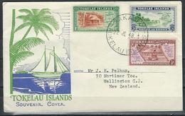 Tokelau. Scott # 1-3 FDC. Maps & Scenes 1948 - Tokelau