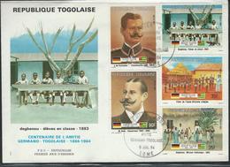 Togo. Scott # 1194,97,99,1212,14 Large FDC. Cent. Of German Togolese Friendship 1984 - Togo (1960-...)