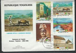 Togo. Scott # 1195,1200-01,10,19 Large FDC. Cent. Of German Togolese Friendship 1984 - Togo (1960-...)