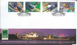New Zealand. Scott # 1666-69 FDC. Summer Olympic Games Sydney 2000 - Summer 2000: Sydney