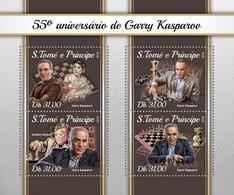São Tomé E Príncipe 2018   Chess  Garry Kasparov  S201804 - Sao Tome And Principe