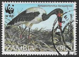 Zambia SG757 1996 Endangered Species. Birds 900k Good/fine Used [37/30809/2D] - Zambia (1965-...)