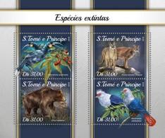 São Tomé E Príncipe 2018 Animals Extinct Species S201804 - Sao Tome And Principe