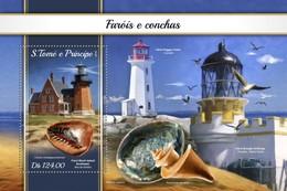 São Tomé E Príncipe 2018  Lighthouse And Shells S201804 - Sao Tome And Principe