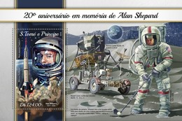 São Tomé E Príncipe 2018  Space Alan Shepard  S201804 - Sao Tome And Principe