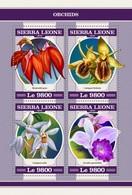 Sierra Leone 2018  Orchids S201804 - Sierra Leone (1961-...)