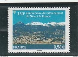 FRANCE 2010 NEUF 150E ANNIVERSAIRE DU RATTACHEMENT DE NICE YT 4457 -                                    TDA168A - Ungebraucht