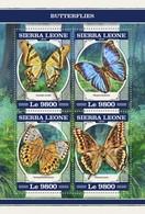 Sierra Leone 2018 Butterflies  S201804 - Sierra Leone (1961-...)
