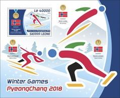 Sierra Leone 2018  Winter Games 2018 S201804 - Sierra Leone (1961-...)