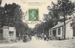 St Saint-Brévin-l'Océan (Loire-Inférieure) - Le Rond-point Du Centre, Belle Animation - Phototypie Vassellier - Saint-Brevin-l'Océan