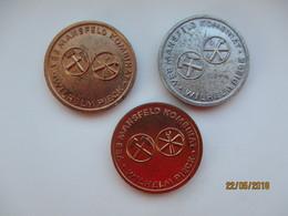 GERMANY DDR SET OF THREE MEDALS MINING , VEB MANSFELD KOMBINAT WILHELM PIECK ,o - Professionals/Firms