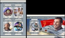 SIERRA LEONE 2018 MNH** Yuri Gagarin Space Raumfahrt Espace M/S+S/S - IMPERFORATED - DH1817 - Africa