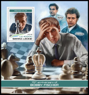 SIERRA LEONE 2018 MNH** Bobby Fischer Chess Schach Echecs S/S - IMPERFORATED - DH1819 - Schaken