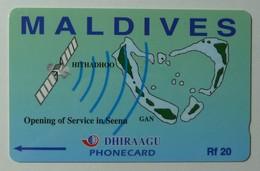 MALDIVES - GPT - Opening Of Service In Seena - 7MLDA - Rf 20 - 1000ex - MINT - Maldives