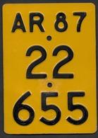 Velonummer Mofanummer Appenzell Ausserrhoden AR 87, (22655) - Plaques D'immatriculation