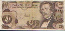 AUTRICHE – 20 Schilling 02/07/1967 - Autriche