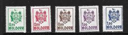 MOLDAVIE 1992  COURANTS  YVERT N°5/9  NEUF MNH** - Moldavie