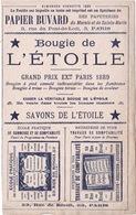 BUVARD, 1895, HACHETTE, Bougies, Savons, Comptabilité. - Buvards, Protège-cahiers Illustrés