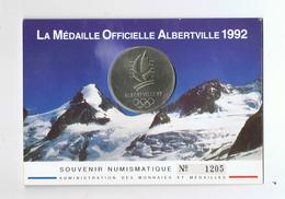 MEDAILLE OFFICIELLE ALBERVILLE 1992 MONNAIE DE PARIS - JEUX OLYMPIQUES D`HIVER - Monnaie De Paris