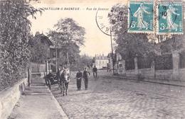 Cpa,chatillon Sous Bagneux En 1909,rues Des Sceaux,haut De Seine,prés Clamart,malakoff,montroug E,attelage,et Gens Connu - Châtillon