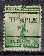 USA Precancel Vorausentwertung Preo, Locals Pennsylvania, Temple 716 - Vereinigte Staaten