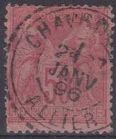 Chavroches (Allier) : Cachet Des Facteurs-boîtiers Sur Sage. - 1877-1920: Période Semi Moderne