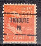 USA Precancel Vorausentwertung Preo, Locals Pennsylvania, Tidioute 724 - Vereinigte Staaten