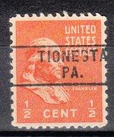 USA Precancel Vorausentwertung Preo, Locals Pennsylvania, Tionesta 745 - Vereinigte Staaten