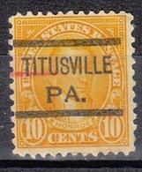 USA Precancel Vorausentwertung Preo, Locals Pennsylvania, Titusville 642-516 - Vorausentwertungen