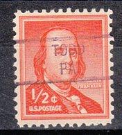 USA Precancel Vorausentwertung Preo, Locals Pennsylvania, Todd 841 - Vereinigte Staaten