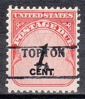 USA Precancel Vorausentwertung Preo, Locals Pennsylvania, Topton 882 - Vereinigte Staaten