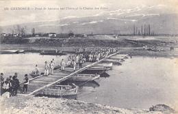 Cpa,1917,grenoble Pendant La 1er Guerre Mondiale,par Potographe éditeur Gaude,pont De Bateaux Sur L'isère - Grenoble