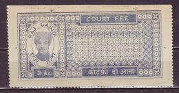 India-Raj Gainta State(Estate Of Kotah) 2 Annas Court Fee/Revenue Type 20 #DF111 - Inde