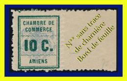 GRÈVE : CHAMBRE DE COMMERCE D'AMIENS 1909 - N** SANS TRACE DE CHARNIÈRE AVEC BORD DE FEUILLE - - Grève