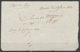 1841 Taxe De Pain De Mormant - 73 SEINE ET MARNE F523 - Marcophilie (Lettres)