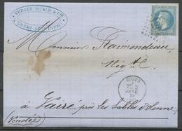 1870 Lettre N°29 Obl GC1204 CAD T16 COZES CHARENTE INFERIEURE(16) K1011 - 1849-1876: Periodo Clásico
