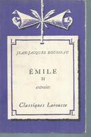 "JEAN-JACQUES ROUSSEAU  "" EMILE Tome II "" - Theatre"